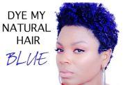 natural hair dye blue