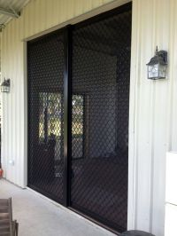 Sliding Security Screen Doors | Diamond Grille | Pinterest ...