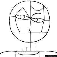 Paul Klee   Senecio coloring page   artists & school ...
