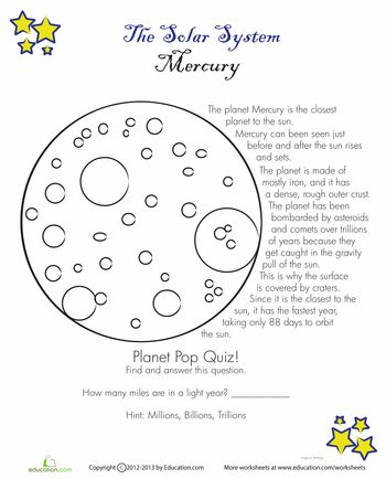 25+ Best Ideas about Mercury Facts For Kids on Pinterest