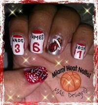 -Miami Heat Nail Design!- Thumb: Heat & Fireworks Index ...