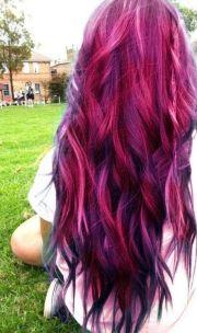 pink purple red hair long