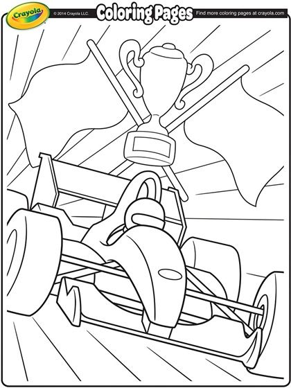 Racecar Coloring Page Formula 1 Formula One Coloring Page