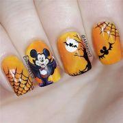 fall halloween nail art desgin