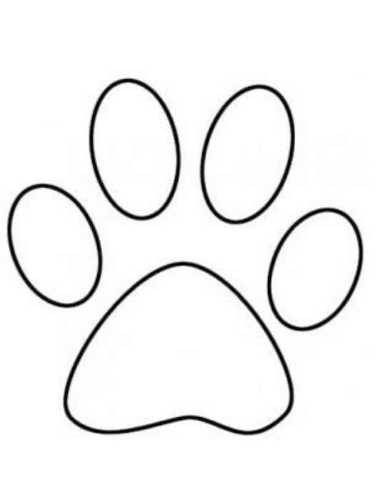 Dog Paw Tattoo Coloring Pages