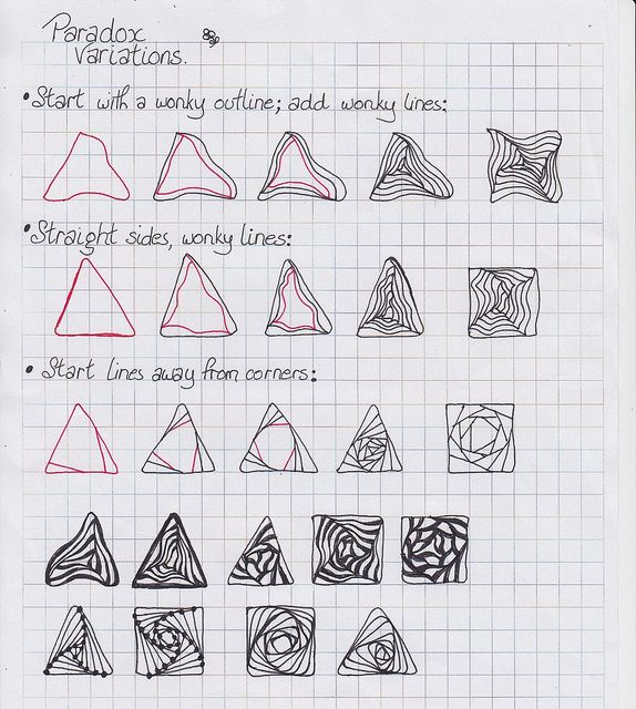 648 best images about Zentangle patterns on Pinterest