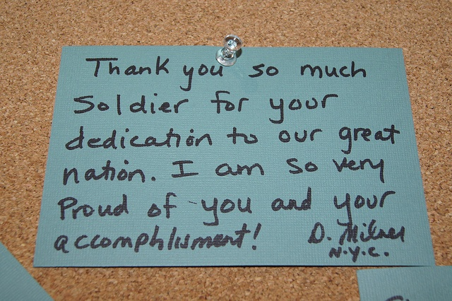 15 Tear Worthy Thank You Notes To Soldiers Written By