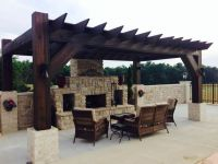 Pergola and outdoor fireplace!