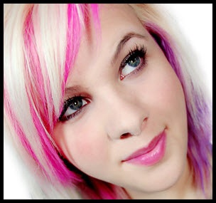 awesome hot pink color chalk on blond hair hair color chalking pinterest pink accents