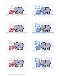 Free Printable Baby Shower Gift Tags- two cute designs ...