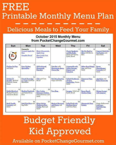 month of meals a menu planner