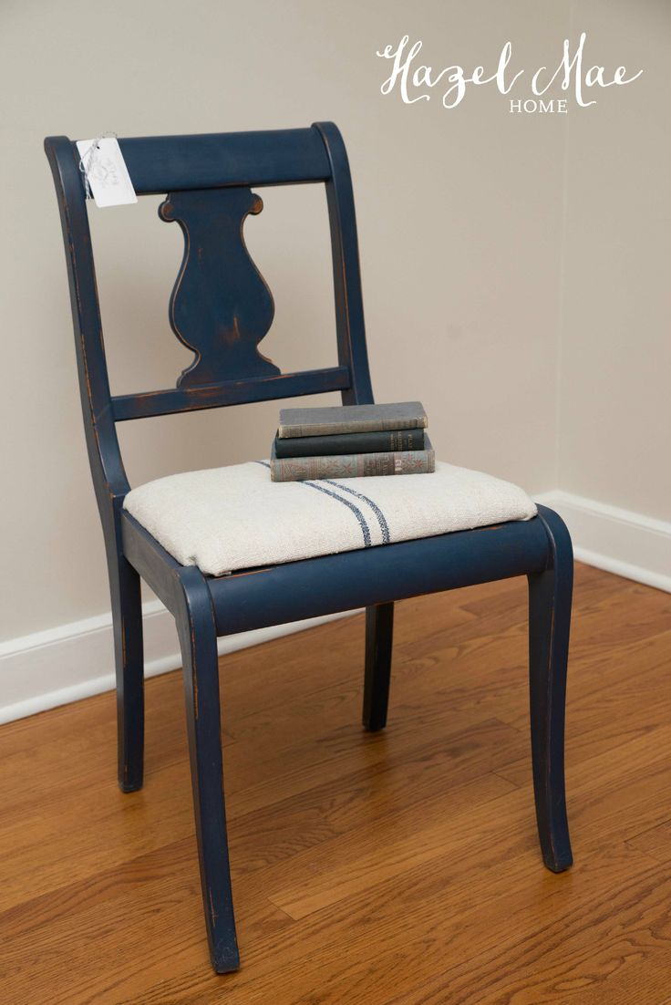 navy blue dining chairs set of 2 black desk chair no wheels custom using annie sloan napoleonic and graphite {by hazel mae home} | ...