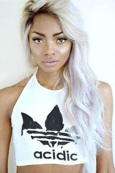 dark skin light hair beauty pinterest dark skin light hair and hair