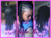 simple cornrows and beads hairstyles