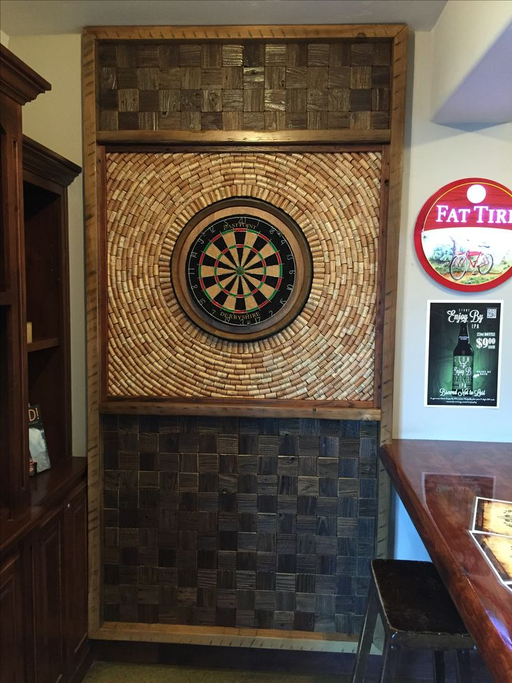 This dart board back board is located at The Boardroom Pub