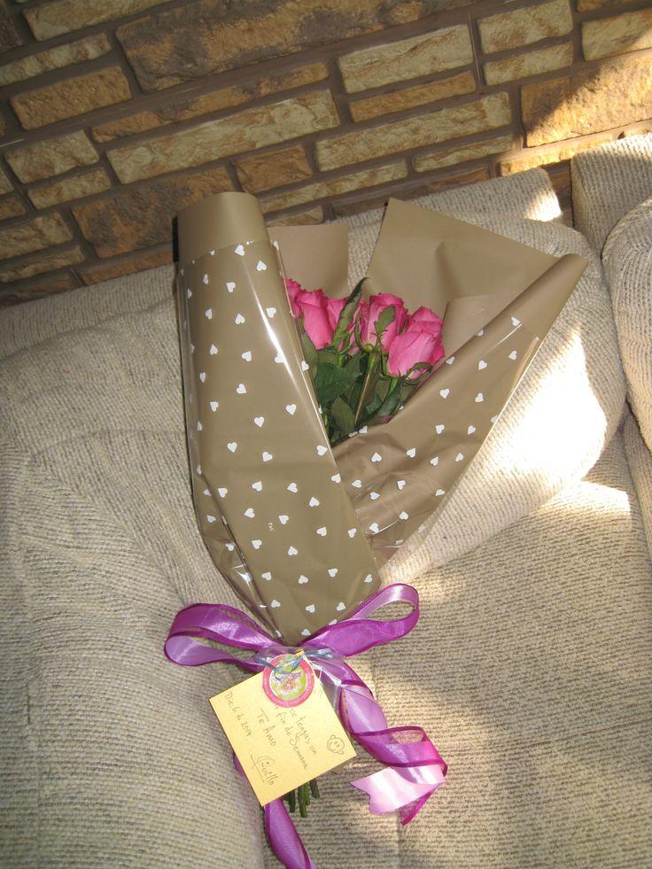 Ramo de rosas con liston en tono uva y lila para regalo de fin de semana wwwfacebookcomdiseno7rosamexicano  Diseo Floral  Pinterest