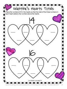 3689 Best images about Valentine's Day Math Ideas on