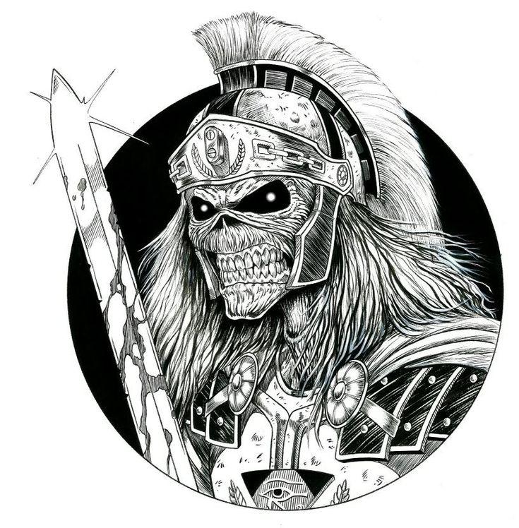 Trooper Maiden Stencil Iron Eddie