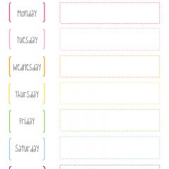 Cute and simple FREE printable weekly planner! From