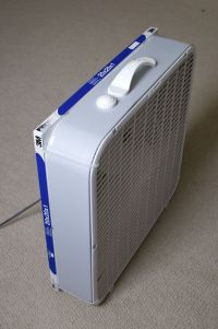 Make your own air purifier. A box/window fan with furnace ...
