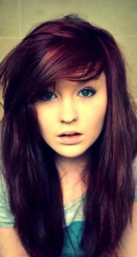 medium violet haircut pics | ... Women Dark Red Violet ...