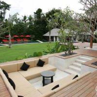Sunken garden seating | garden ideas | Pinterest | Gardens ...