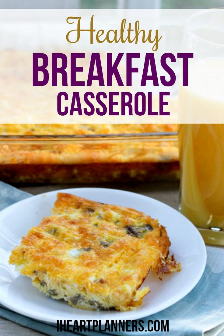 This tasty and healthy breakfast casserole is a great breakfast alternative to cereal. Enjoy this egg and vegetable bake that is