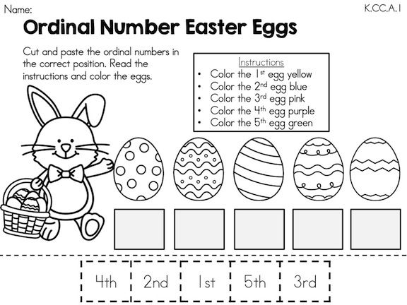 Easter Kindergarten Math Worksheets (Common Core Aligned