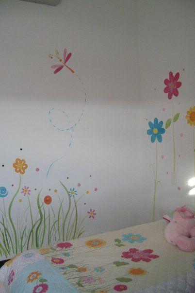 decoracion diseo y pintura en muros RECAMARA DE NIAS  pinturas  Pinterest  Pintura
