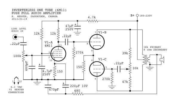 vacuum tube circuit diagram