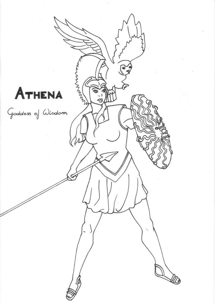 17 Best images about Greek God/dess' Coloring Pages on