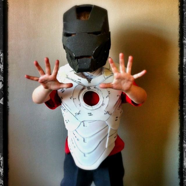 Progress Pic Of The Kids Foam Iron Man Suit DIY Iron