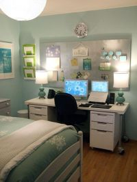 25+ best ideas about Bedroom office combo on Pinterest