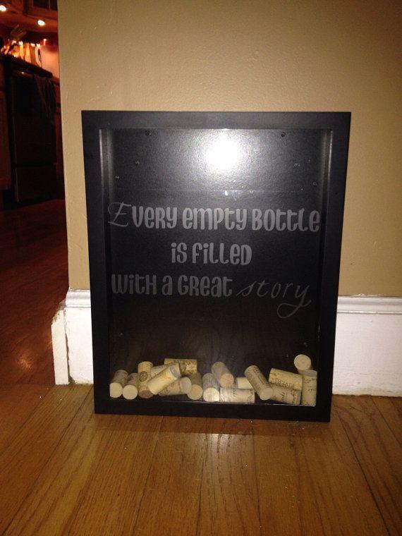Wine Cork Display Case  Wine Lover  Shadow Box  Wine