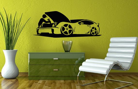 Wall Decals For Auto Car Repair Shop Decal Vinyl Sticker