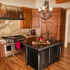 Hickory Kitchen Island Backsplash Panels Acacia Floors With Alder Cabinets | This Pic Has Maple ...