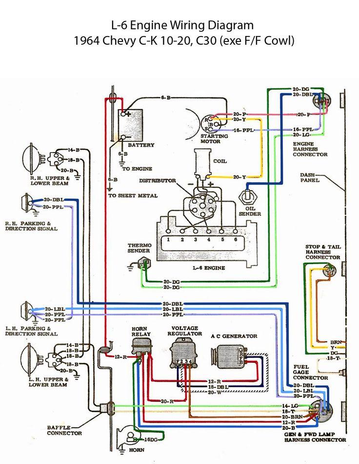 1966 corvette fuel gauge wiring diagram melex 212 golf cart electric: l-6 engine   chevy 6 pinterest and electric