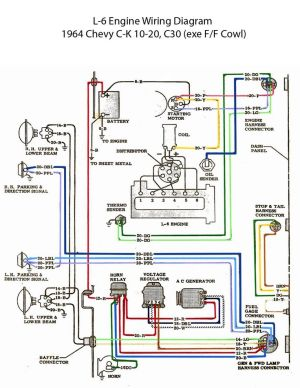 ELECTRIC: L6 Engine Wiring Diagram | Chevy 6 | Pinterest