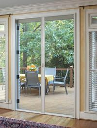 Outward opening french doors with retractable screens ...
