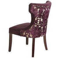 Elegant hourglass chair in royal purple velvet with nine ...