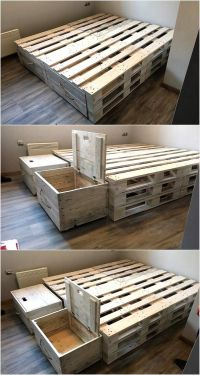 25+ best ideas about Pallet bed frames on Pinterest | Cool ...