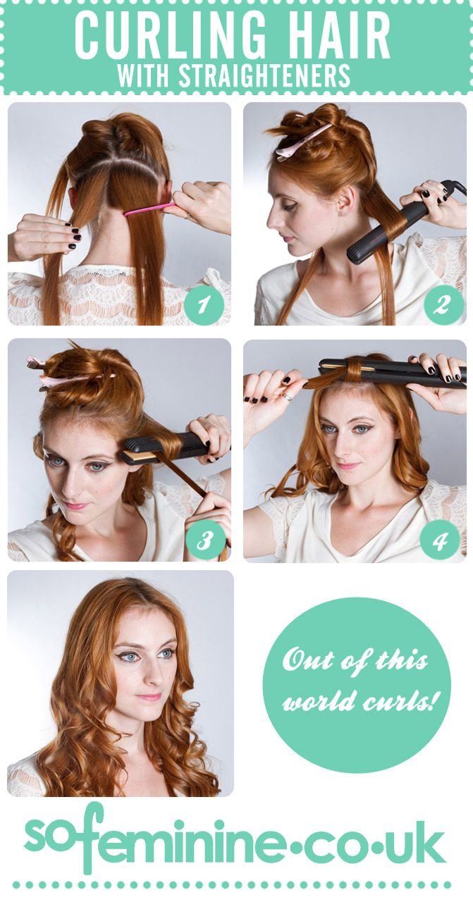 25 Best Ideas About Curl Hair With Straightener On Pinterest