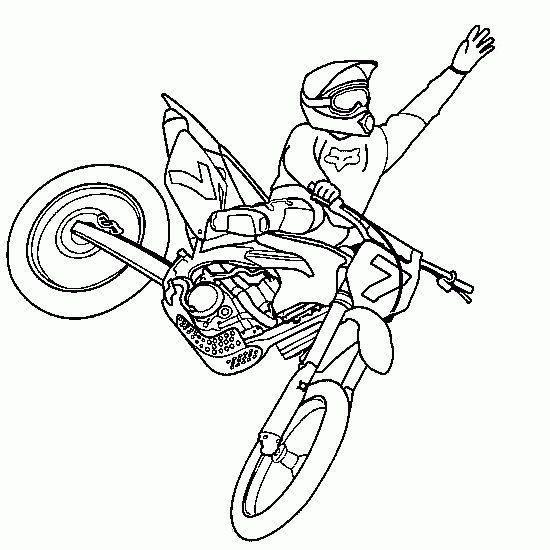 Coloriage Motocross 28
