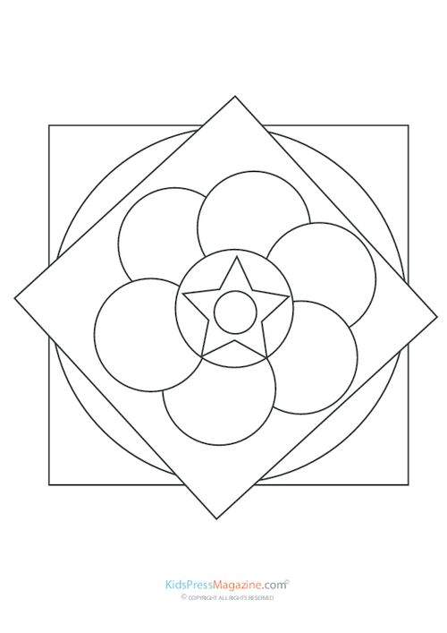 17 Best images about Mandalas Coloring Pages on Pinterest
