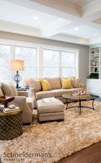 Neutral furniture makes a perfect canvas for changing ...