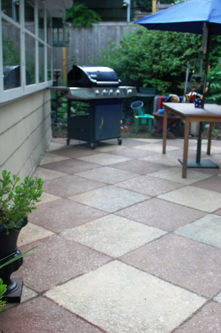 1000 images about Painted Concrete Patios on Pinterest  Stains Concrete front porch and
