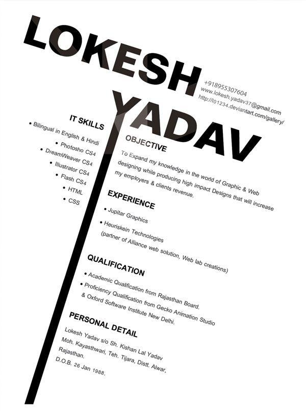 example graphic design resume - Resume Examples Graphic Design