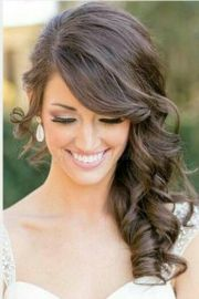 bridesmaid side hairstyles
