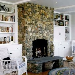 Traditional Living Room Ideas With Fireplace And Tv Storage Box River Rock On Nantucket Island, Ma. Chris ...
