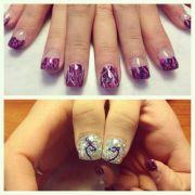 muddy girl camo acrylic nails